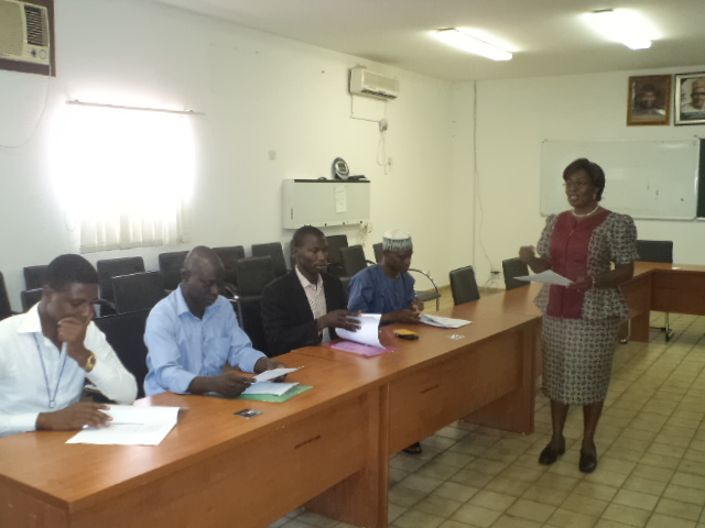 Dr. Victoria Eyo of ACHL facilitating a training of treatment supoorters