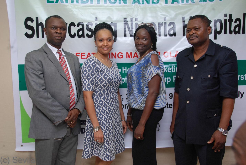Mr. Emeka, Helen Bornu, Dr. Godwin Asuquo, ED of ACHL